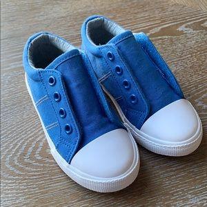 Cat & Jack | Blue Canvas Slip-On Toddler Shoes 8